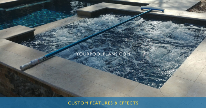 custom swimming pool water features design plans