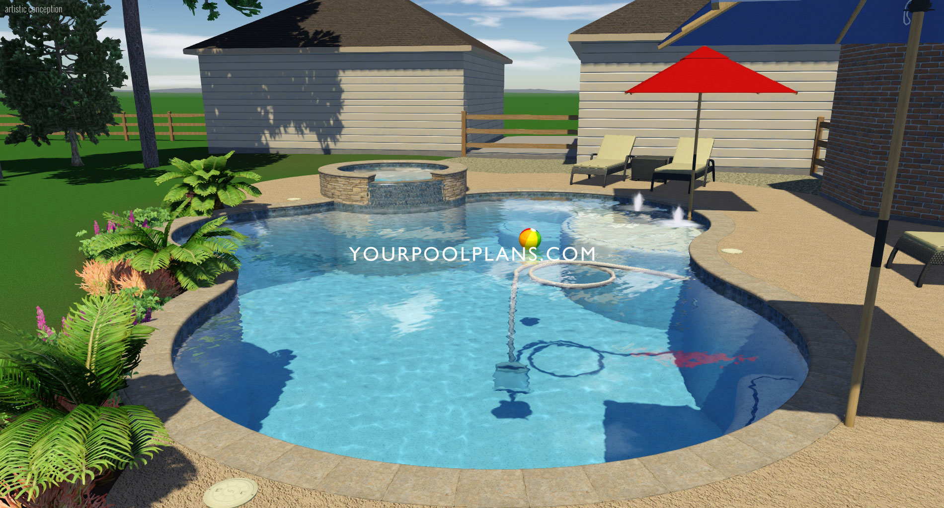 3D Swimming Pool Designs | Your Online Pool Design ...