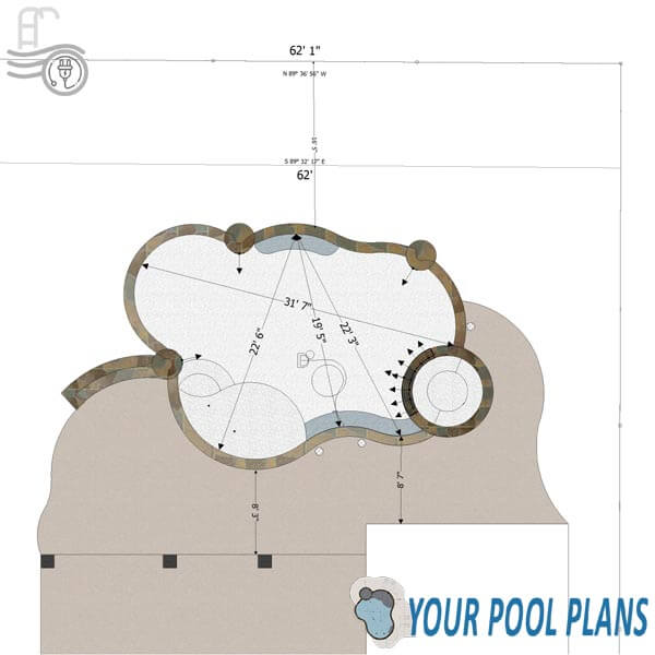 HOA and city permit pool design plans online
