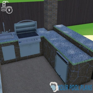 outdoor kitchen design plans online