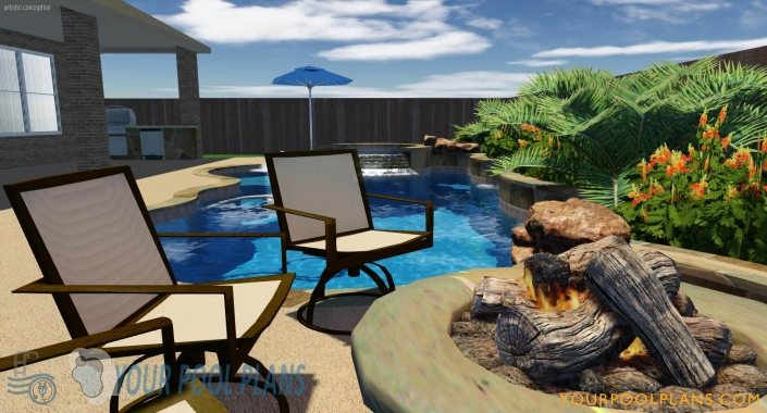 pool and landscaping design plans for construction online