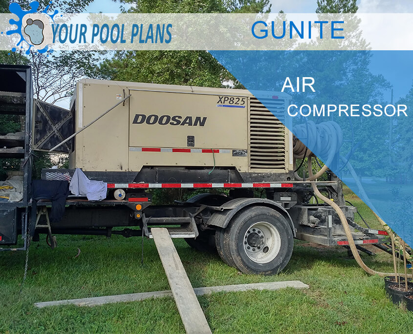 GUNITE AIR COMPRESSOR TRUCK