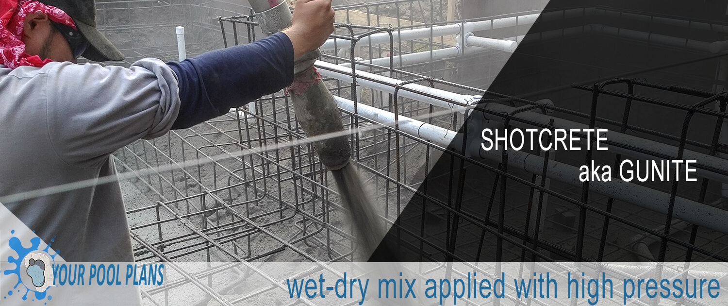 what is the definition of gunite shotcrete for swimming pools