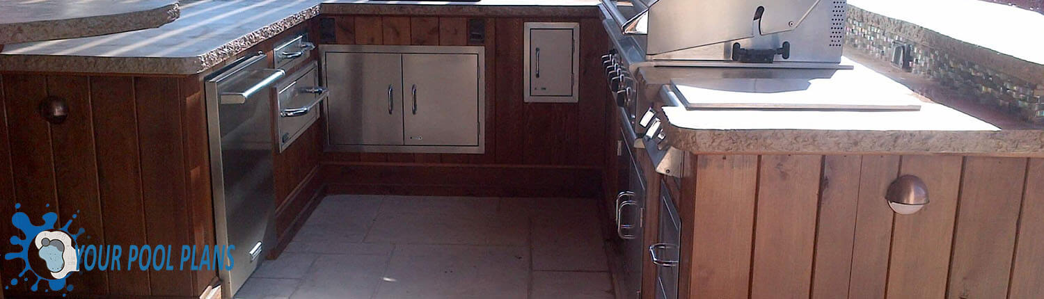 outdoor kitchen cabinet finish material