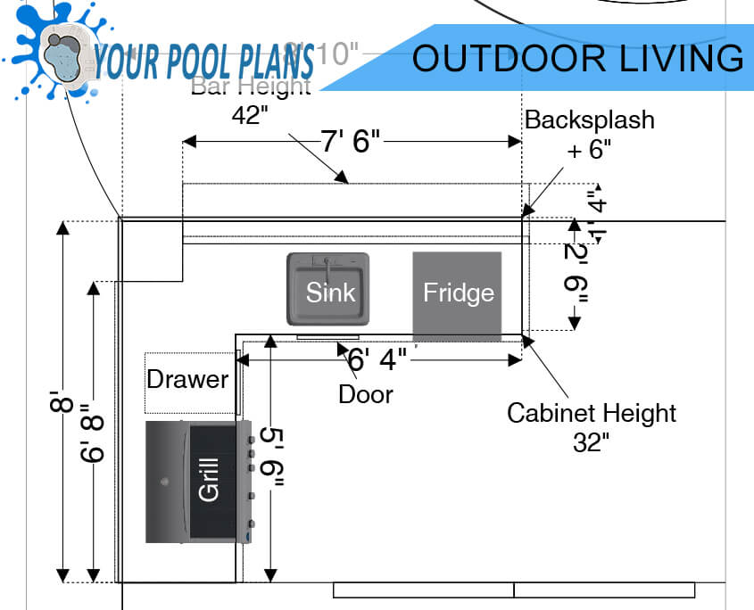 outdoor living kitchen design plans online