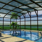custom 3d pool design with enclosure