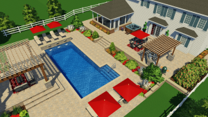 traditional concrete swimming pool design ideas