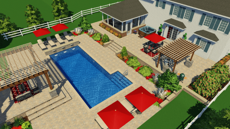 traditional concrete swimming pool design ideas