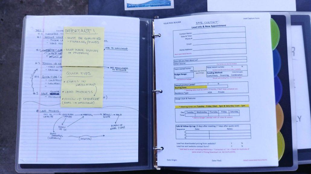 Pool Builder Lead Qualify Form Example 2
