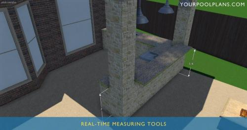 3d swimming pool design software real time measuring