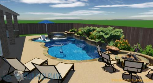 backyard landscaping pool design construction plans online