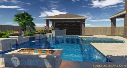 custom geometric 3D swimming pool design plans online