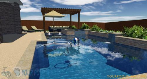 custom online 3D swimming pool design plans