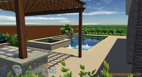 online custom 3D swimming pool design